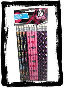 Buy 12 Monster High Pencils Party Favors