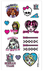 monster high tattoo sheet party includes