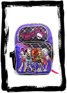 Buy Monster High In Purple Backpack School